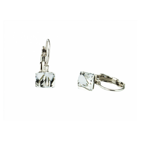 Linda's Jewelry Náušnice Cube Crystal Swarovski Elements IN125