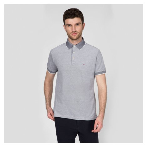 Tommy Hilfiger pánské šedé polo tričko Oxford