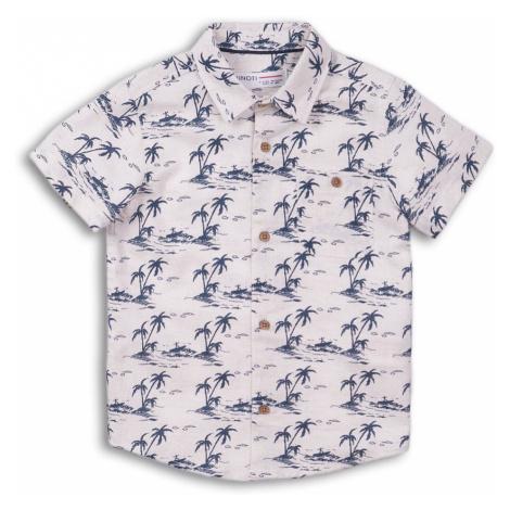 Košile chlapecká s krátkým rukávem lněná, Minoti, Good 5, kluk