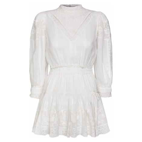 Šaty LoveShackFancy VIOLA béžová|bílá
