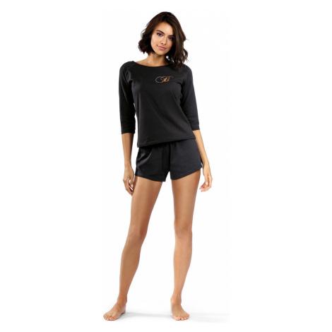 Dámské pyžamo P-1506 černá Lorin