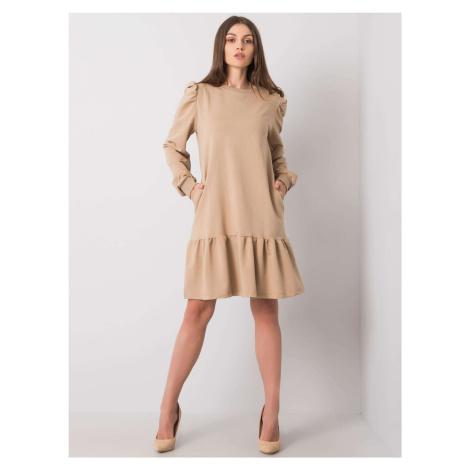 Béžové mikinové šaty