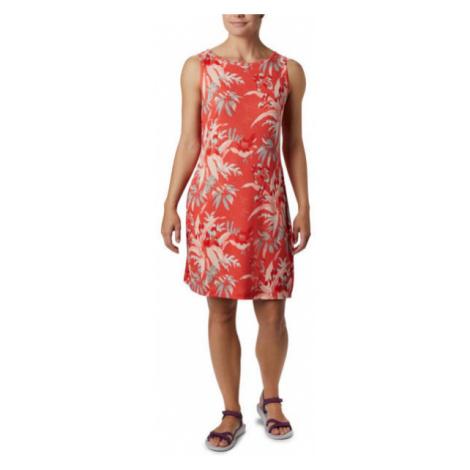 Columbia CHILL RIVER™ PRINTED DRESS červená - Dámské šaty s potiskem