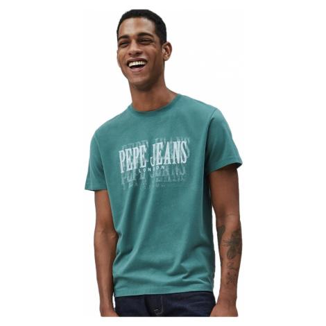 Pepe Jeans Pepe Jeans pánské zelené tričko Snow