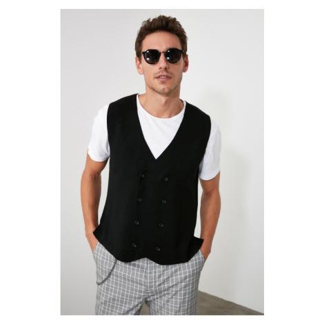 Trendyol Black Men's Slim Fit Knitwear Vest