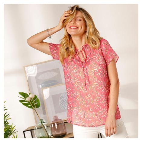 Blancheporte Košilová halenka s potiskem růžová/režná