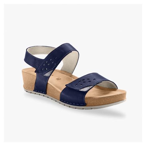 Blancheporte Sandály se širokými pásky, námořnicky modré námořnická modrá