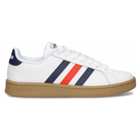 Bílé pánské ležérní tenisky s prošitím Adidas