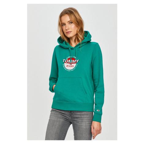 Tommy Jeans dámská zelená mikina Tommy Hilfiger