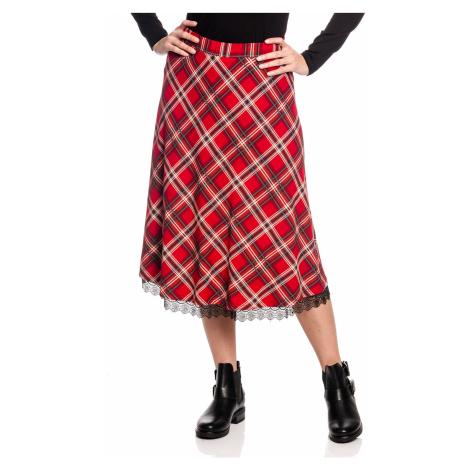 Červená dlouhá sukně Vive Maria British Rebel