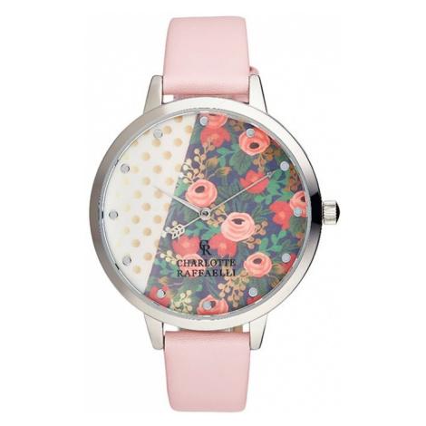 Růžovo-stříbrné hodinky CRF025