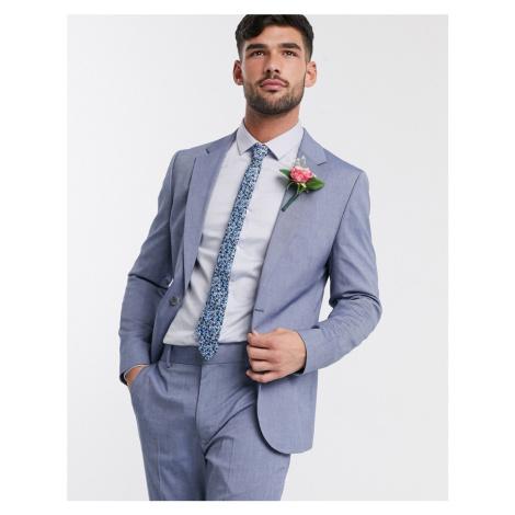 ASOS DESIGN wedding skinny suit jacket in light blue