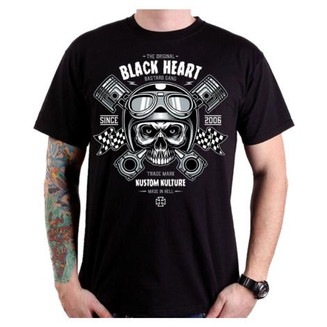 Triko Black Heart Piston Skull Černá BLACKHEART
