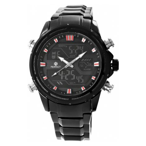 Pánské hodinky Perfect A8027-1 Dual Time Hodinky s osvětlením