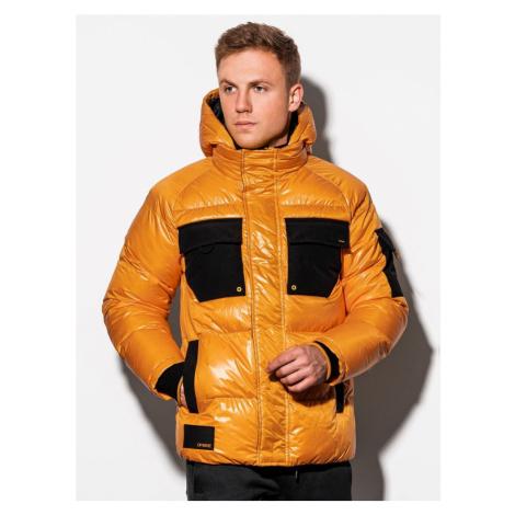 Ombre Clothing Stylová přechodná bunda ve žluté barvě C457