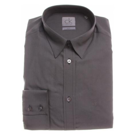 Calvin Klein pánská tmavě šedá košile