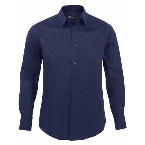 SOĽS Pánská košile BRIGHTON 17000228 Dark blue