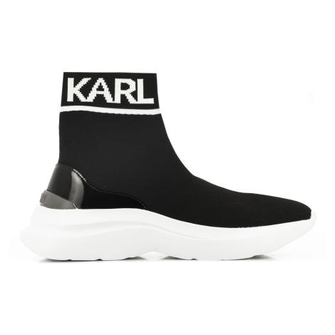 Kotníková Obuv Karl Lagerfeld Skyline Knit Ankle Pull On - Černá