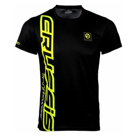 Pánské triko krátkým rukávem CRUSSIS černo-žlutá