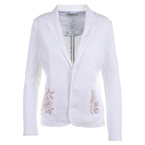 Desigual dámské sako krémové bez zapínání