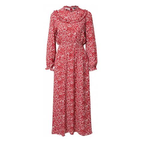 Trendyol Košilové šaty červená / krémová / pudrová / černá