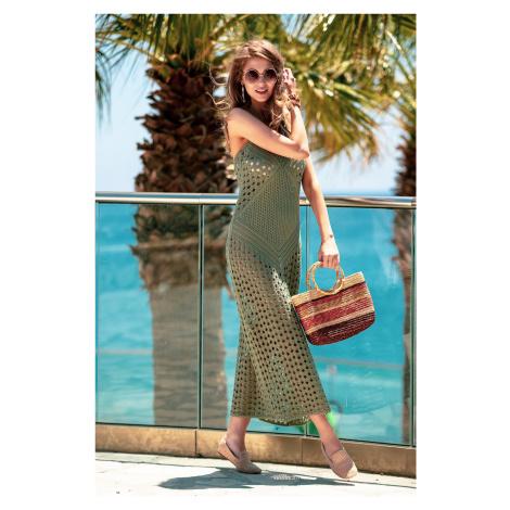 Háčkované letní maxi šaty
