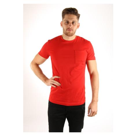 Calvin Klein pánské červené tričko Talb
