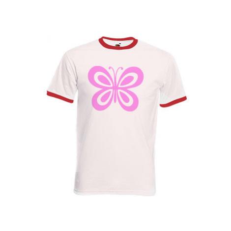 Pánské tričko s kontrastními lemy Motýl