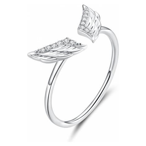 Linda's Jewelry Stříbrný prsten Andělská Křídla Ag 925/1000 IPR067 Velikost: Univerzální