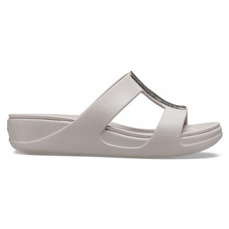 Crocs Crocs Monterey Metallic WedgeW Silver/Platinum W5
