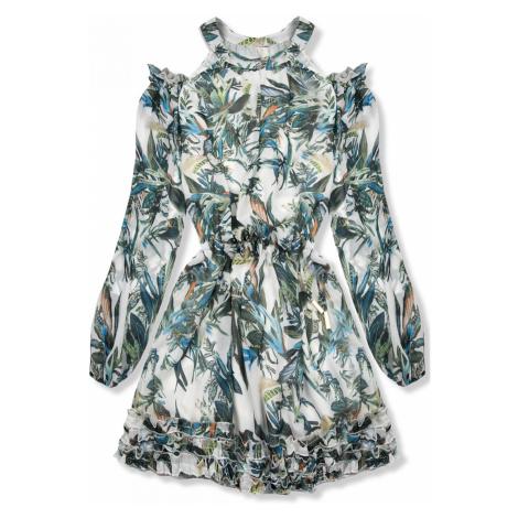 Zeleno-modré květinové šaty Laura/O'la Voga Butikovo