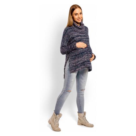 Tmavě modrý těhotenský pulovr 60002C PeeKaBoo