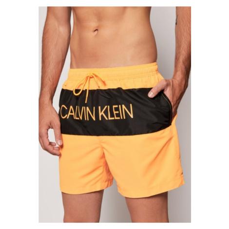 Pánské plavky Calvin Klein KM0KM00456 Pomerančová