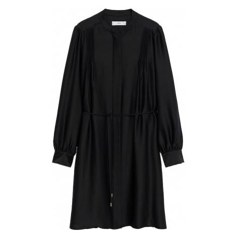 MANGO Košilové šaty 'Albani' černá