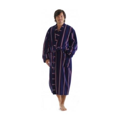 OXFORD proužek - pánské bavlněné kimono nadměr 3XL dlouhý župan kimono Vestis