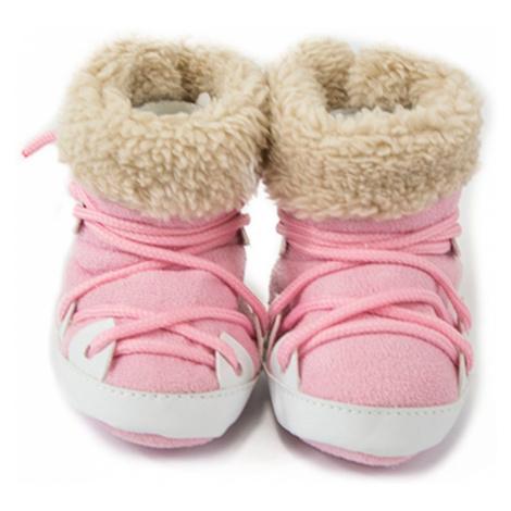 Pidilidi kojenecké capáčky zimní, Pidilidi, PD0560, růžová