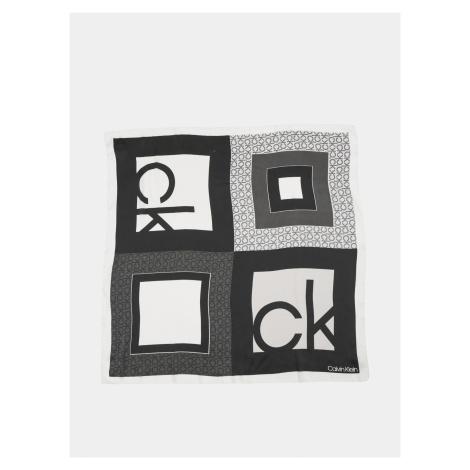 Calvin Klein černo-bílý šátek Bandana