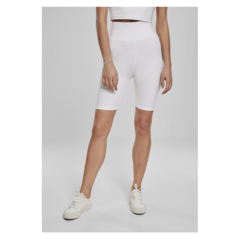 Ladies High Waist Cycle Shorts - white Urban Classics