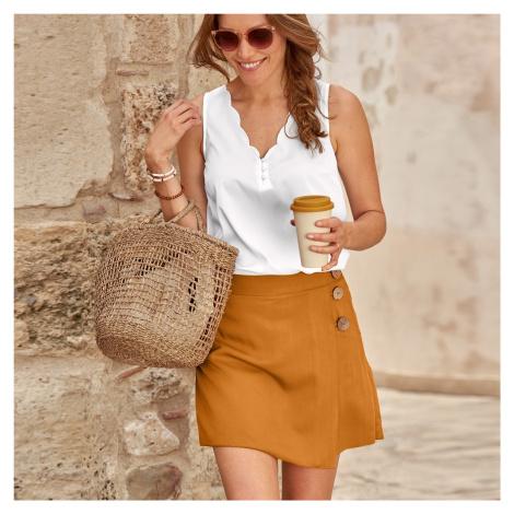 Blancheporte Sukňové šortky, jednobarevné oříšková