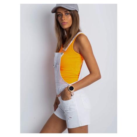 White denim dungarees Fashionhunters