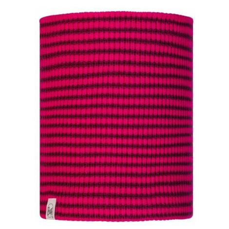 Nákrčník Neckwarmer Knitted a Polar Fleece Buff Junior Funn - růžová