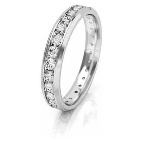 Art Diamond Dámský snubní prsten z bílého zlata se zirkony AUGDR001