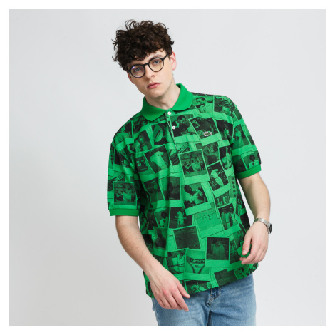 LACOSTE Lacoste LIVE x Polaroid Loose Fit Print Polo Shirt