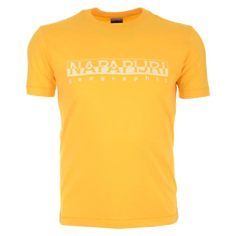 Pánské žluté tričko Napapijri s velkým logem