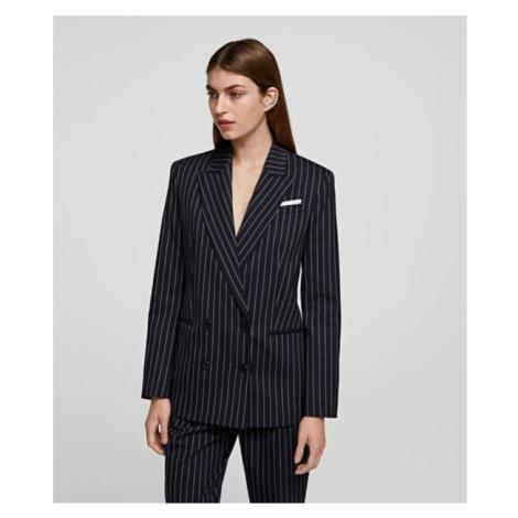 Sako Karl Lagerfeld Pinstripe Blazer - Modrá
