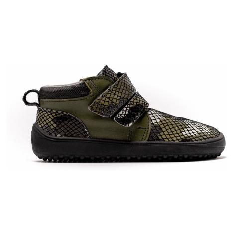 Dětské barefoot boty Be Lenka Play - Army 35