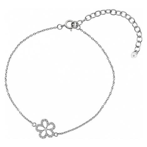 Hot Diamonds Stříbrný náramek s pravým diamantem Daisy DL579