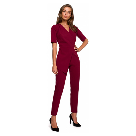 Stylove Woman's Jumpsuit S241 Maroon