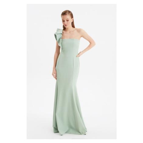 Trendyol Mint Volan Detailed Evening Dress & Graduation Gown