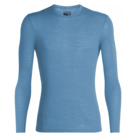 Icebreaker EVERYDAY LS CREWE modrá M - Pánské funkční triko Icebreaker Merino